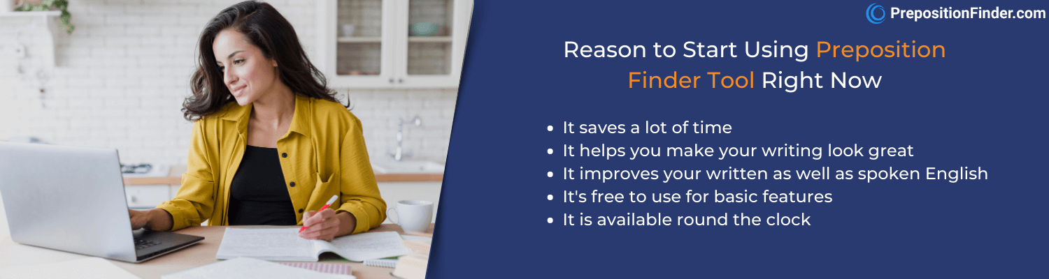 reasons to use preposition finder tool